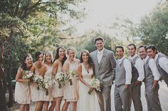 neutral color wedding party - Google Search