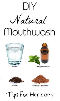 DIY Natural Mouthwash - Keep your mouth clean, and your breath minty fresh, using an all natural, diy mouthwash Homemade Mouthwash, Homemade Toothpaste, Homemade Beauty, Diy Beauty, Beauty Tips, Natural Solutions, Beauty Recipe, Health And Beauty, Just In Case