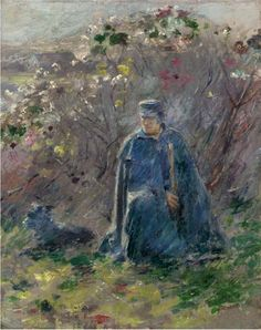 Theodore Robinson - Policeman and Dog x 33 cm) Theodore Robinson, 19th Century, Dogs, Painting, Life, Men, Impressionism, Artists, Pet Dogs