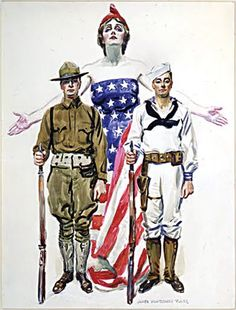 """James Mongomery Flagg's """"I Want You"""" US Army Recruiting poster: The most famous poster in the world, with 4 million copies printed and distr..."""