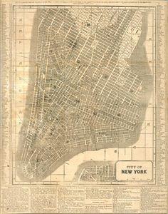City of New York, c. 1850 via New York Public Library