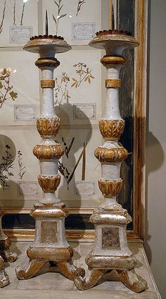 Love this type of large candlestick, in wood or brass.