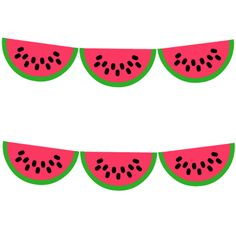 Free Watermelon Printable Party Garland from printablepartydecor.com