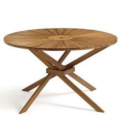 Table metal et pin – Vente de tables de jardin ronde 140 ...
