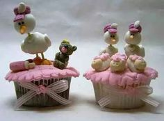 Flowery Girlie Baby Shower Cupcakes | Baby Shower Cupcakes ...
