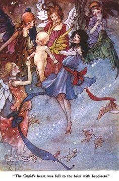"The Cupids Heart; The Wee Little Cupid & the Magic Stardust from ""Little Folks - The Magazine for Boys and Girls"" - London: Cassell and Co., Ltd., 1915."