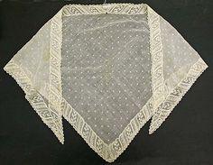 Fichu  Date: fourth quarter 18th century Culture: American (probably) Medium: cotton