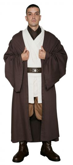 Costumes Costumes, Reenactment, Theater Honest Star Wars Jedi Knight Bath Robe For Man Black Refreshing And Beneficial To The Eyes