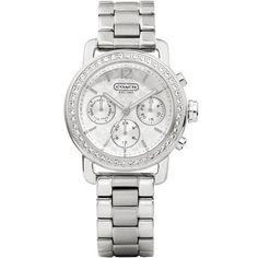Relógio feminino Coach com pulseira em aço. 14501882