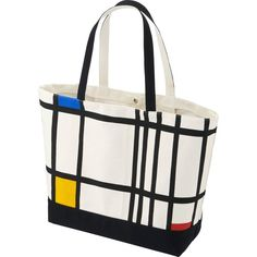 UNIQLO SPRZ NY Tote Bag (Piet Mondrian) (£9.90) ❤ liked on Polyvore featuring men's fashion, men's bags, off white and mens tote bag