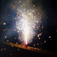 Picture of a fire cracker at the moment it exploded. (I took this photo btw )