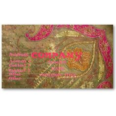 India inspired customizable business cards
