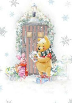 Pooh and Piglet Christmas Winnie The Pooh Christmas, Cute Winnie The Pooh, Winne The Pooh, Winnie The Pooh Quotes, Disney Christmas, Christmas Art, Xmas, Christmas Quotes, Eeyore
