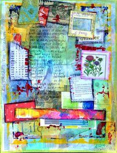 Art Journal: Windowv1.2 - daisy yellow - create explore paint