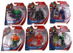 Lot 6 Justice League Figures Batman Superman Flash Green Lantern Aquaman Luther