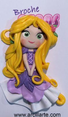 Colgante Rapunzel. Arcilla polimérica