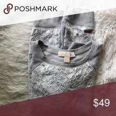 Michael Kors short sleeve sweatshirt, sz M Michael Kors short sleeve sweatshirt, sz M. More pics coming Michael Kors Tops Sweatshirts & Hoodies