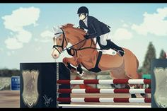 :Hunters Lake Contest 2014 - Kevin and Copper Horse Drawings, Animal Drawings, Ride Drawing, Horse Animation, Star Stable, Funny Horses, Show Jumping, Equine Art, Horse Art