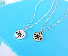 Compass necklace Friendship necklace compass by BriguysGirls