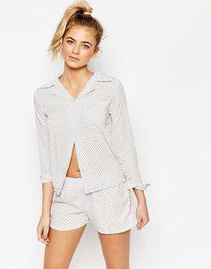 402616fb6c2 Boohoo Polka Dot Shirt   Short Pyjama Set at asos.com