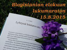 Ullan Luetut kirjat: Blogistanian elokuun lukumaraton 15.8.2015  (päivi...