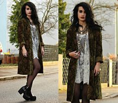 Get this look: http://lb.nu/look/7971866  More looks by Tessa Diamondly: http://lb.nu/tessadiamondly  Items in this look:  Vintage Embroidered Velvet Coat, Free People Lace Dress   #bohemian #edgy #grunge
