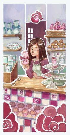 Sarah's bakery by DawnElaineDarkwood.deviantart.com on @deviantART
