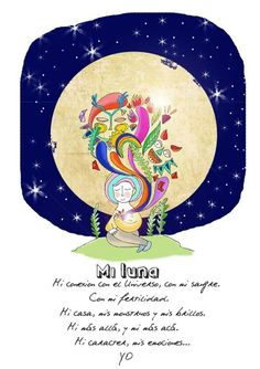 Luna llena Chakras, Moon Lovers, Memes, Frases, Inspiring Pictures, Full Moon, Loneliness, Illustrations, Drawings