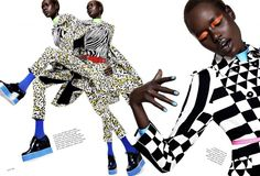 """Ajak Deng is """"Mad Max"""" for Elle US September 2015 by Paola Kudacki [editorial]"""