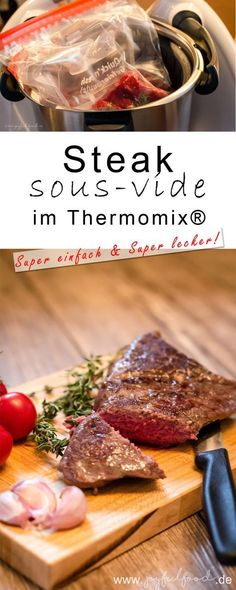 Thermomix Rezepte recipe tasty Steak Sous Vide im TM - einfach und lecker Seared Salmon Recipes, Pan Seared Salmon, Grilling Recipes, Beef Recipes, Cooking Recipes, Beef Tips, Healthy Grilling, Drink Recipes, Cake Recipes