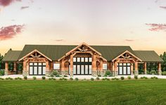 Rustic House Plans, Cabin House Plans, House Plans One Story, Farmhouse Plans, Modern Farmhouse, Mountain Ranch House Plans, Story Mountain, Mountain View, Rustic Houses Exterior