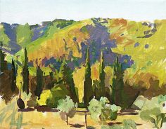 Alex Fowler - Three cypresses, Chianti