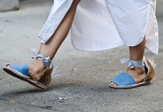 Best Street Style Shoes and Bags from Fashion Week Spring 2015 - New York Fashion Week - These espadrilles are the epitome of a mixed-material shoe.