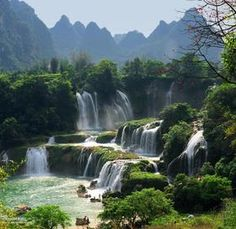 Waterfalls between China and Vietnam