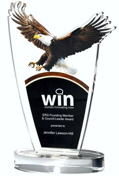 Our Landing Eagle Acrylic Award features a full color American bald eagle at the top and a black area for laser engraving personalization. = x Size (Weighs 1 lbs) … Box Signs, Wall Signs, Acrylic Trophy, Acrylic Awards, Custom Awards, Aluminum Signs, Colour Images, Bald Eagle, Laser Engraving