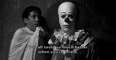 It. (it,clown,it the clown,stephen king,nightmares,horror,movies,pennywise,killer,gif)