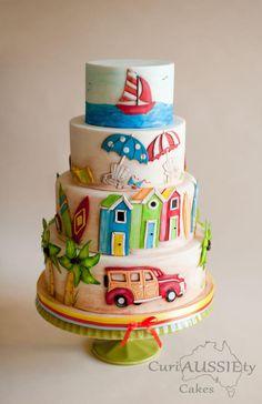 Beach vacation cake