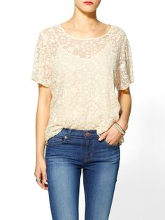 Piperlime | Chanel Floral Lace Top