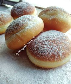 Donut Recipes, Snack Recipes, Cooking Recipes, Snacks, Delicious Donuts, Yummy Food, Roti Canai Recipe, Cute Desserts, Indonesian Food