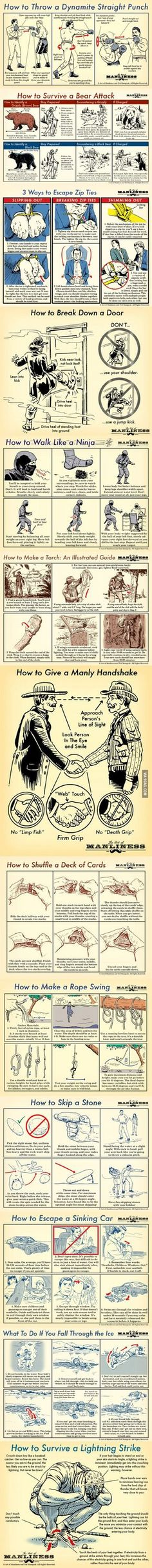 Manly Skills for men. And women