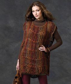 Drop Stitch Tunic Crochet Pattern by Mikey, The Crochet Crowd Crochet Tunic Pattern, Easy Crochet Patterns, Shawl Patterns, Cute Crochet, Knit Crochet, Crochet Cape, Crochet Edgings, Crochet Shirt, Freeform Crochet
