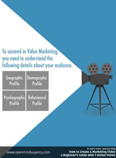 To succeed in Video Marketing you need to understand the Geographic, Demographic, Psychographic and Behavioural profiles of your audience. To learn more read our blog: [Click on the image] #omagency #video #marketing