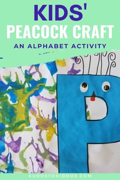 Make this cute letter P activity. Your children will love this adorable letter p activity that teaches p is for peacock. This peacock craft combines learning, different colors, cutting, painting, pasting, and fun to create a cute little DIY art project. Teaching beginning letter sounds can be fun with projects like this cute peacock craft. #letterp #k1crafts #k2crafts #peacockcraft #paintingactivity Letter P Crafts, Letter P Activities, Painting Activities, Alphabet Crafts, Games For Toddlers, Toddler Activities, Learning The Alphabet, Kids Learning, Peacock Crafts