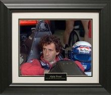 Alain Prost Photo Matted and Framed