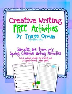 FREE-Spring Creative Writing Exercises  English Language Arts, Creative Writing, Holidays/Seasonal, Spring  4th, 5th, 6th, 7th, 8th, Homeschool  Activities, Printables, Literacy Center Ideas Writing Exercises contains two writing activities for your students to practice their creative thinking skills.