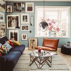 Home Inspiration : KrickelinThe Definitive Source for Interior Designers - How To Hygge - Ideas of How To Hygge - Home Inspiration : KrickelinThe Definitive Source for Interior Designers Luxury Homes Interior, Interior Design, Living Room Decor, Bedroom Decor, Blue Living Room Walls, Classic Home Decor, Home And Deco, Living Room Inspiration, Interior Inspiration