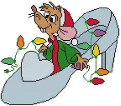 Cross Stitch PATTERN Disney Cinderella Jaq Mouse Christmas Lights Shoe Slipper | Crafts, Needlecrafts & Yarn, Embroidery & Cross Stitch | eBay!