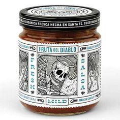 Macabre Packaging - Fruta del Diablo Salsa Features Dia de los Muertos Skulls (GALLERY)