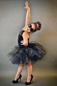 http://toughgirltutus.wordpress.com black tutu Audrey Hepburn style photography ideas kids dress up
