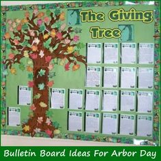 """""""The Giving Tree,"""" by Shel Silverstein, is a wonderful book to read your students in the fall and it's easy to create a colorful fall bulletin board display with your students' creative writing assignments.  You can find lesson plan ideas for the """"The Giving Tree"""" here: http://www.uniqueteachingresources.com/Giving-Tree-Lesson-Plans.html"""